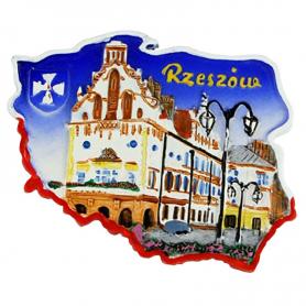 Fridge magnet, Poland shaped, Rzeszow