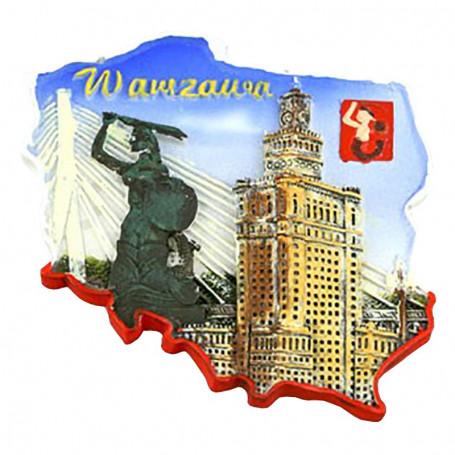 Contorno de imán Palacio de la cultura de Varsovia