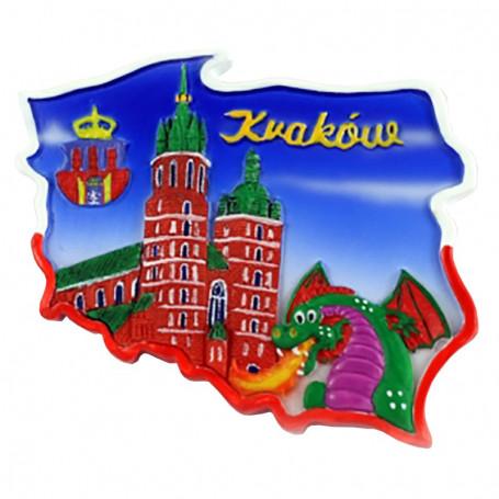 Magnes kontur Kraków smok