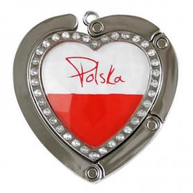 Hanger for handbag, heart Poland