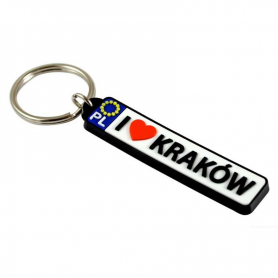 Keychain license plate Cracow