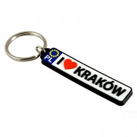 Porte-clés en caoutchouc - plaque d'immatriculation Cracovie
