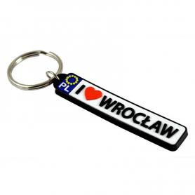 Porte-clés en caoutchouc - plaque d'immatriculation Wroclaw