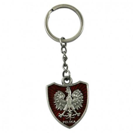 Porte-clé en métal aigle sur le bouclier