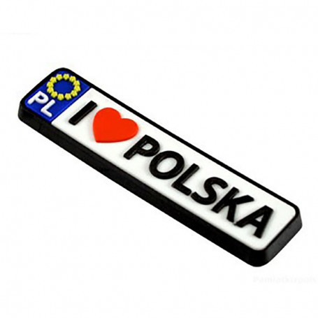 Imán de goma - registro Polonia