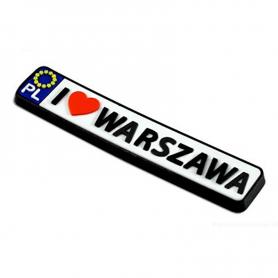 Aimant en caoutchouc - enregistrement Varsovie
