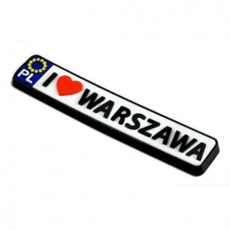 Imán de goma - registro Varsovia