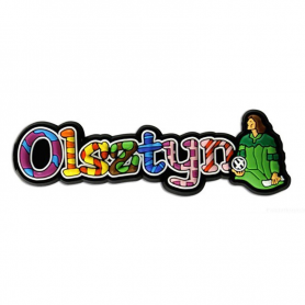 Magnes gumowy - napis Olsztyn