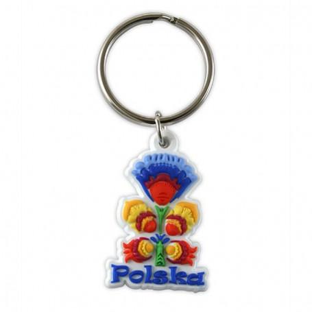Porte-clés en caoutchouc - folk polonais