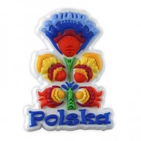Rubber fridge magnet folk Poland