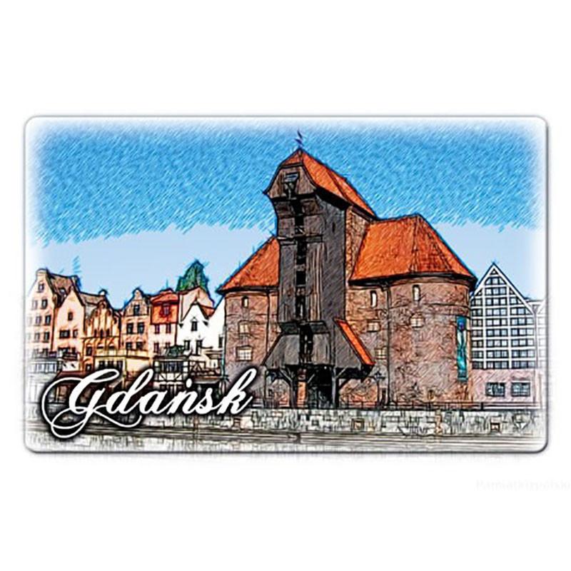 Imán plano Grúa de Gdańsk
