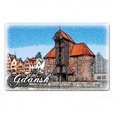 Aimant plat Grue de Gdańsk