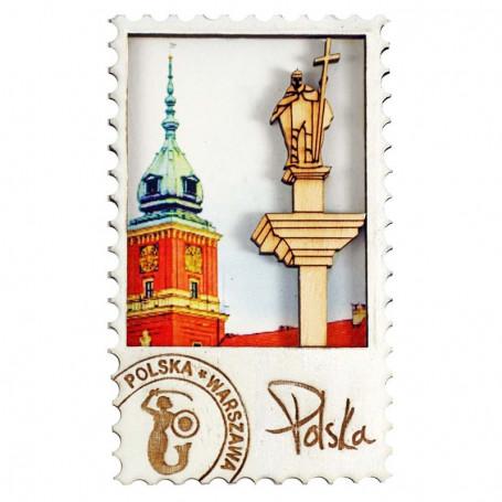 Imanes de nevera de madera Warsaw Castle