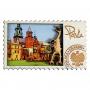 Imán de madera Catedral de Cracovia Wawel