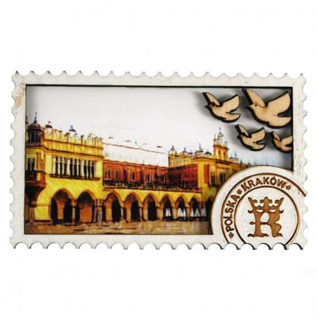 Dřevěný magnet Krakow Cloth Hall
