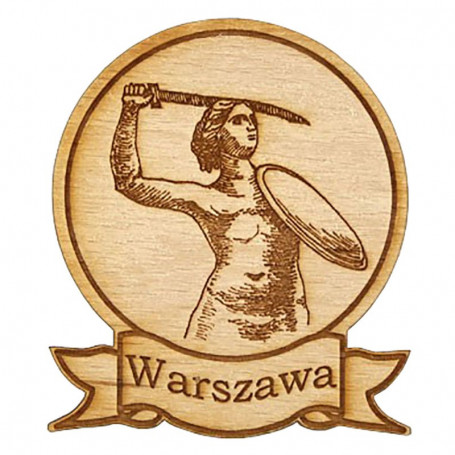 Magnes drewniany okrągły Warszawa