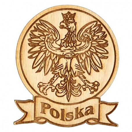 Imán redondo de madera Polonia