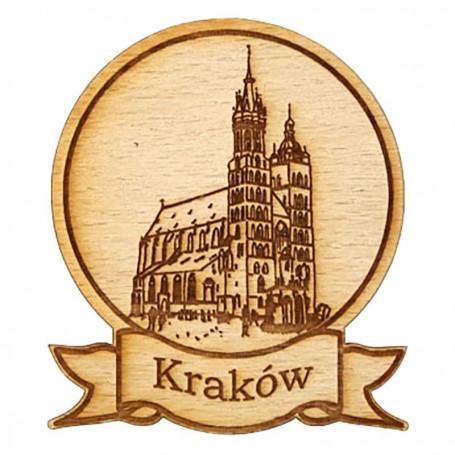Magnes drewniany okrągły Kraków
