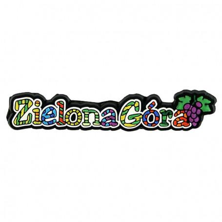 Magnes gumowy - napis Zielona Góra