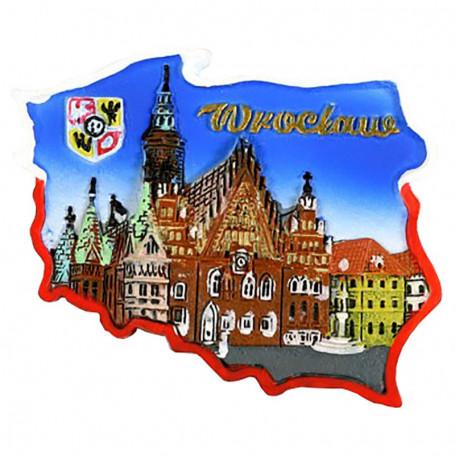 Magnet contour Hôtel de ville de Wroclaw