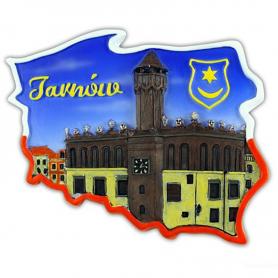 Fridge magnet, Poland shaped, Tarnow