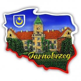 Fridge magnet, Poland shaped, Tarnobrzeg