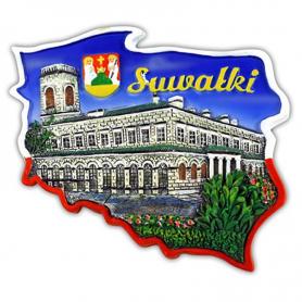 Fridge magnet, Poland shaped, Suwalki
