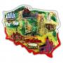 Contour de l'aimant Carte de la Pologne