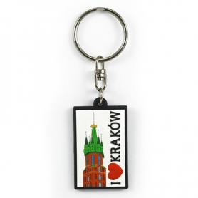 Soft pvc keychain I love Cracow