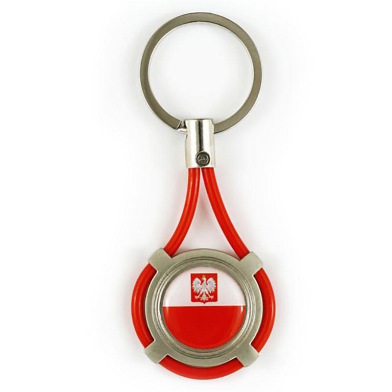 Porte-clés en métal sur une chaîne