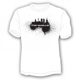 "T-shirt ""Warszawa"", spray"