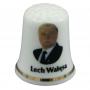 Porcelaine dé a coudre - Lech Walesa