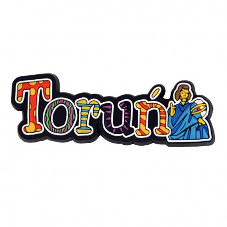 Magnes gumowy - napis Toruń