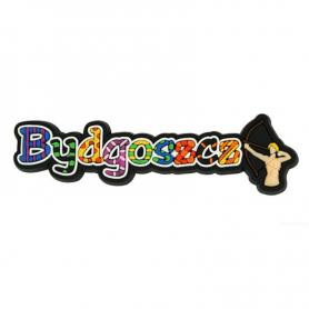 Rubber fridge magnet inscription Bydgoszcz
