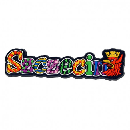 Magnes gumowy - napis Szczecin