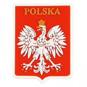 Imán de goma - emblema polaco, pequeno
