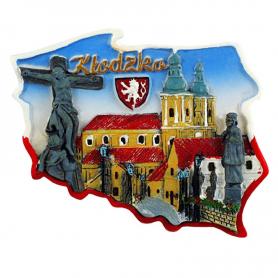 Fridge magnet, Poland shaped, Klodzko