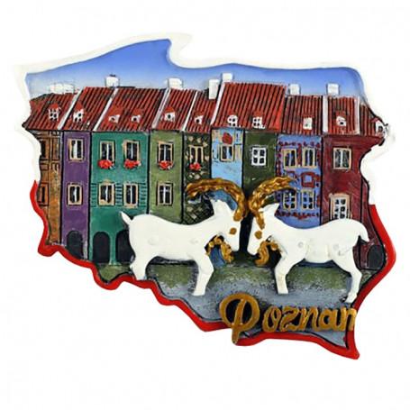 Imán contorno Poznań, cabras