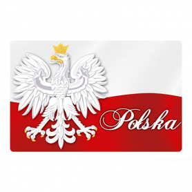 3D fridge magnet Poland flag