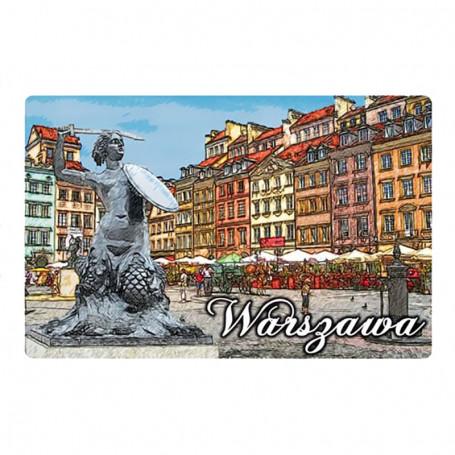 Imán con un efecto 3D Varsovia - Old Town