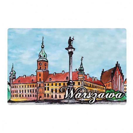 Imán con efecto 3D Castillo de Varsovia