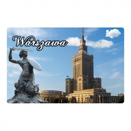 Imán con un efecto 3D Palacio de la Cultura de Varsovia