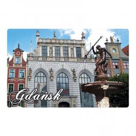 Imán con efecto 3D Gdańsk Neptun