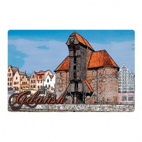 Magnes na lodówkę z efektem 3D Gdańsk Żuraw