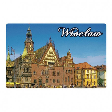 Imán con efecto 3D Wroclaw