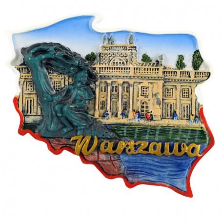 Imán contorno Varsovia Łazienki