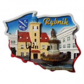 Fridge magnet, Poland shaped, Rybnik