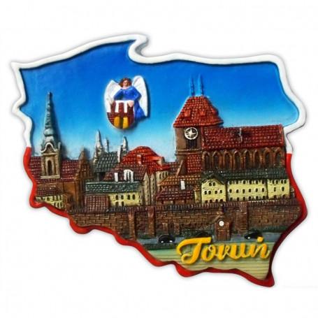 Imán contorno Toruń panorama