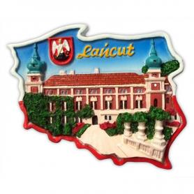 Fridge magnet, Poland shaped, Lancut