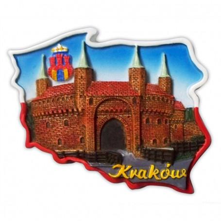 Magnes kontur Kraków Barbakan
